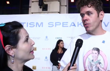 Jackie Watson, French Reporter with Perez Hilton at La Vie En Blue benefiting Autism Speaks