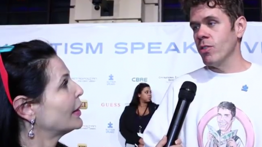 Jackie Watson, French Reporter with Perez Hilton at La Vie En Blue benefiting Autism Speaks