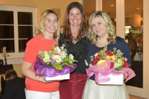 Junior League President Kirsten Stanley (center) co-chairs Meg Fielder and Emily Ghijselinck.