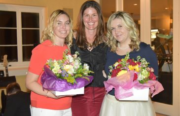 ​Junior League President Kirsten Stanley (center) co-chairs Meg Fielder and Emily Ghijselinck.